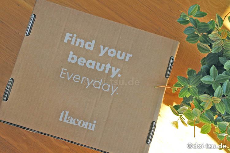 ドイツのコスメ通販サイトflaconiから届いた箱の写真