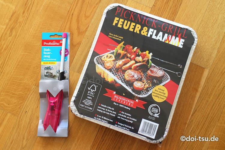 ドイツの簡易BBQグリル(Picknick-grill)とチャッカマン