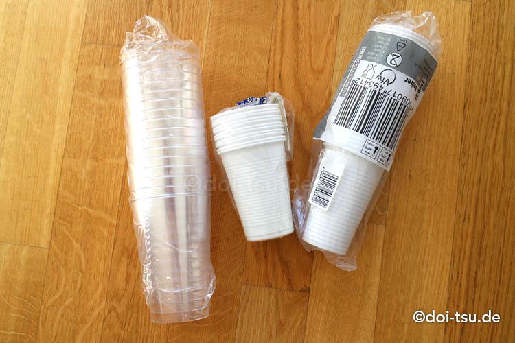 ドイツのバーベキューで使う使い捨てのコップ類