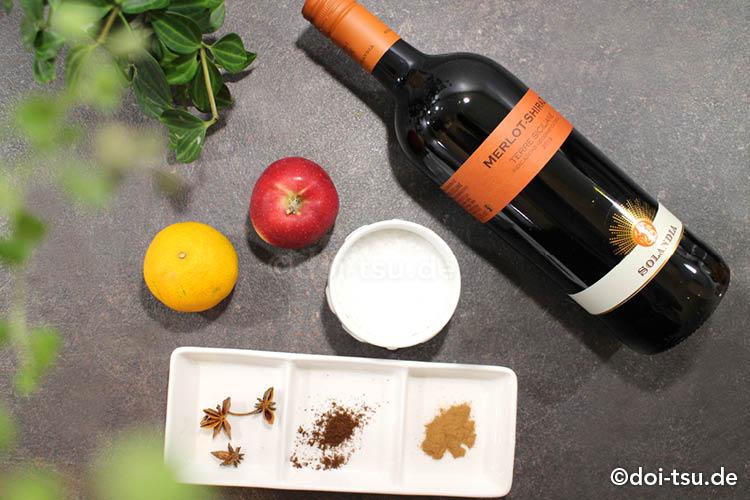ドイツ人から教えてもらったホットワインのレシピの材料