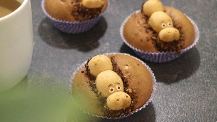 【kinderチョコ】ハッピーヒッポのカップケーキ簡単レシピ