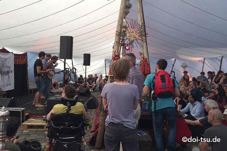 Sommerwerft festival in Frankfurt, Germany