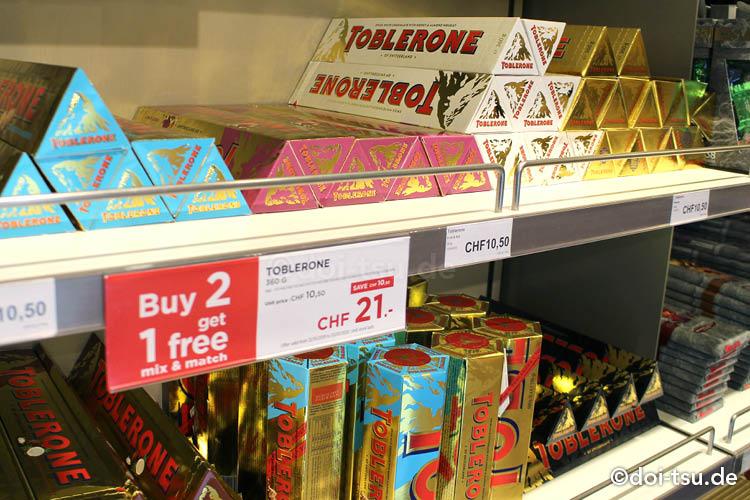 スイスの有名チョコレートのうちの1つトブラローネ(Toblerone)