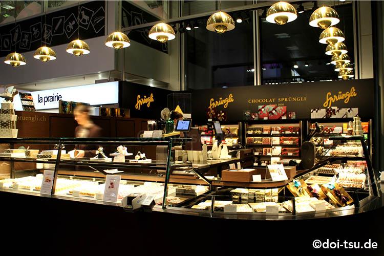 スイスのチョコレートブランド、シュプルングリー Sprüngliのお店