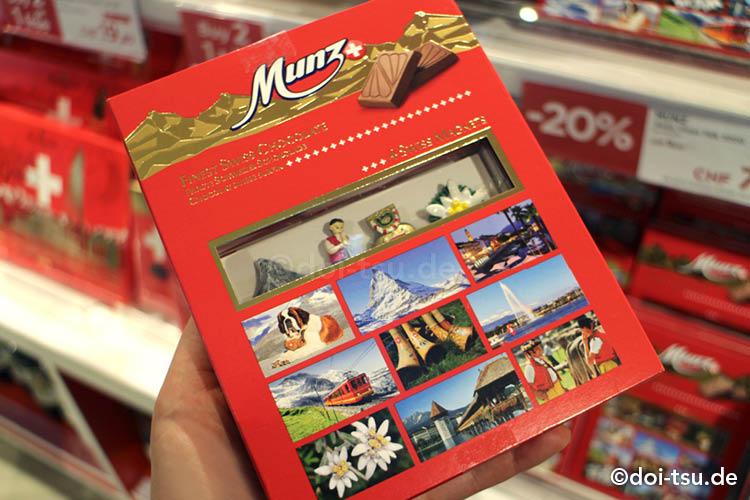 おもちゃ入りのスイスのチョコレート、Munz(ムンツ)
