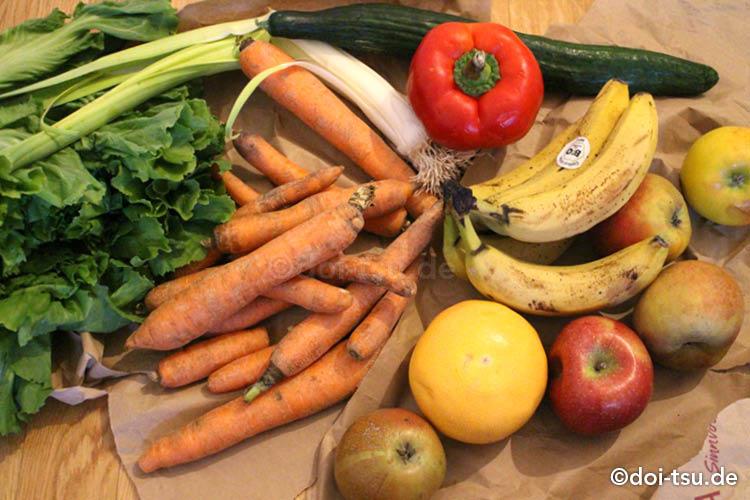 too good to go アプリで買った野菜や果物